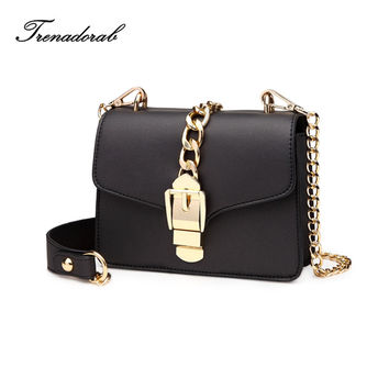 Brand Women Messenger Bags 2016 Luxury Handbags Women Bags Designer Leather Purses Chains Clutch Crossbody For Ladies
