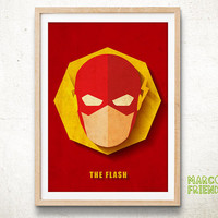 The Flash, Justice League - Art Print, Paper Art, Home decor, Watercolor Print, Superhero Poster