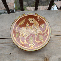 Unique ceramic plate, decorative ceramic plate, handcrafted ceramic plate, handmade pottery, handmade and hand painted ceramic plate