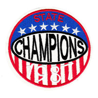 Large Vintage Style State Champions 1987 Patch 9cm