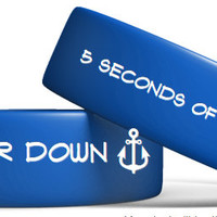 5sos 5 Seconds of Summer BLue Simmer Down Bracelet