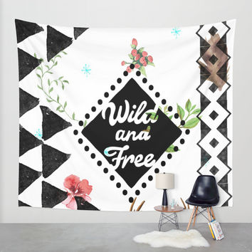 Wild and Free Wall Tapestry by Seven Roses