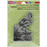 "Stampendous Cling Stamp 4.75""""X4.5""""-Flamingo"
