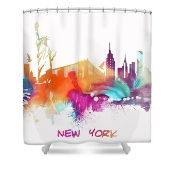 New York City Skyline Shower Curtain