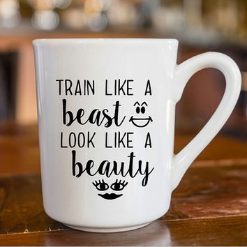 Workout Mug Decal | Beauty Decal | Sassy Coffee Mug Decal | Fitness Chick Decal | Yeti Decal | iPhone Decal | MacBook Decal |  193