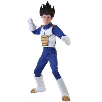 CREY6F Complete Dragon Ball Z Child Vegeta Little Warriors Armor As Powerful As Super Saiyan Confident Boys Anime Cosplay Costume