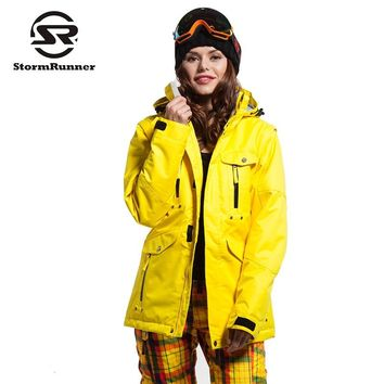 StormRunner Women's snow jacket colorful jacket  windproof  waterproof snow ski jacket warm thick jacket for girls
