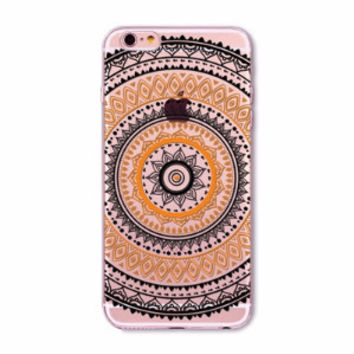 Orange Mandala Boho Case for iPhone 5 5s SE 6 6s