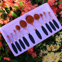 Rose Gold 10PCS Make up Brushes