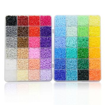 48 Color Box Set Artkal Mini Fuse Beads Plastic EVA Perler Beads Diy Pixel Arts Handmade Creative Jewelry Gift