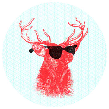 "Nick Nelson's ""Young Buck"" Circle wall decal"