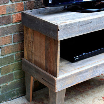 Retro Media Center Rustic Contemporary by natureinspiredcrafts