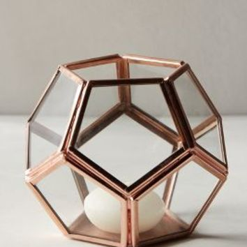 Metalwork Hurricane by Anthropologie in Rose Gold Size: