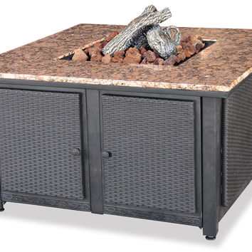 LP Gas Outdoor Fire Pit Table with Granite Mantle