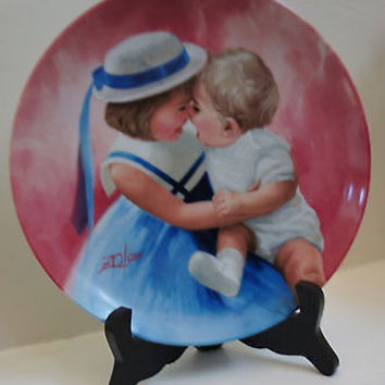 Vintage Fine China Pemberton & Oakes Mothers Angels Collectors Plate