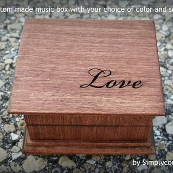 Love, music box, anniversary gift, wooden music box, custom music box, personalized music box, simplycoolgifts, Christmas, Valentines gift