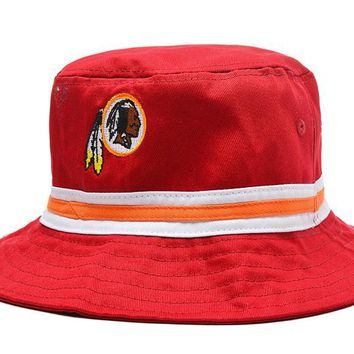 Washington Redskins Full Leather Bucket Hats Red