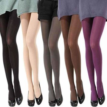 US Opaque Footed Tights Sexy Women's Girls Pantyhose Stockings Socks Colours &