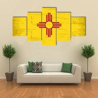 State Of New Mexico Flag Multi Panel Canvas Wall Art