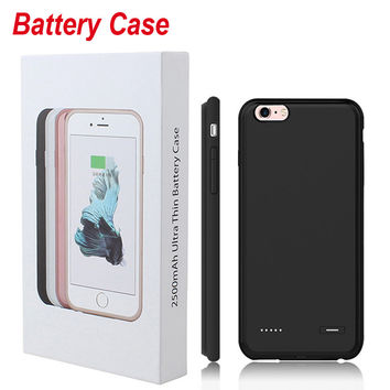 6 6S Charger Battery Case For iPhone 6 Plus iPhone 6S Plus Case Power Pack Phone Cover Thin Ultra Slim Backup External Portable