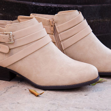 Buckle Up Strappy Booties – Chica's Shoetique