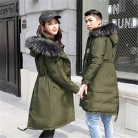 Parka Hooded Couple Down Jackets