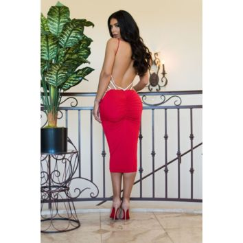 Pia Dress Red