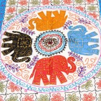 Elephant Wall tapestry Cotton Tablecloth Embroidered Tapestry 2244