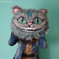 Cheshire cat soft toy, only the head 50 cm.