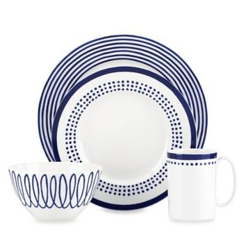 kate spade new york Charlotte Street™ Dinnerware Collection in Blue/White