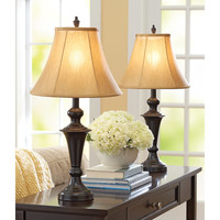 Walmart: Better Homes and Gardens Traditional Lamp, Espresso Finish, 2pk
