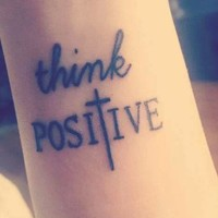 think possitive tatooo