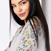 Project Social T Floral Shoulder Pullover Sweatshirt - Urban Outfitters