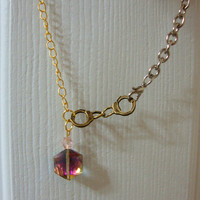 Mixed Metal Handcuff Necklace or Bracelet
