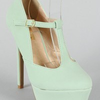 Promise Jacinto Mary Jane Almond Toe Platform Pump