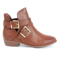 Buckle Booties Tan