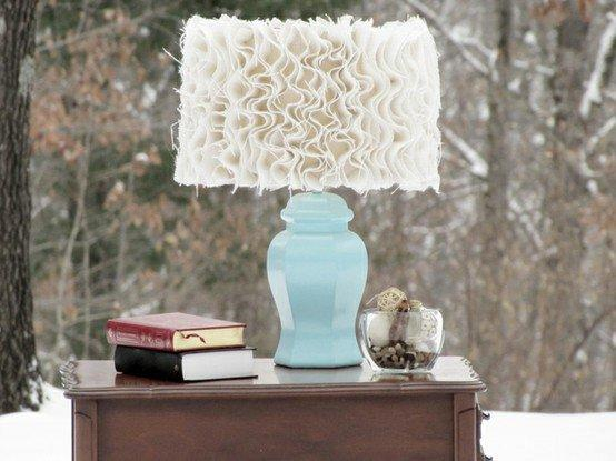 ruffled lamp shade / Tatertots and Jello: Guest Project -- Anthropologie-inspired Ruffled Burlap Lam