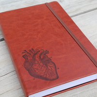 Brown Anatomical Heart Journal Sketch Book