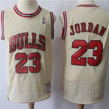 Men's Chicago Bulls Michael Jordan Mitchell & Ness Gold Hardwood Classics Gold Series Swingman Jersey - Best Deal Online