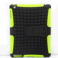 Case Robot 2 in 1 Stand Case Impact Rugged Heavy Duty TPU + PC Hybrid Shock Proof Cover Cases For ipad 2 3 4 For ipad mini goodbiz
