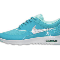Nike Air Max Thea shoes w/ Swarovski Crystals detail - Dusty Cactus/Pure Platinum/Hyper Turquoise