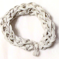 White Rubber Band Bracelet - Support the Cause - Diabetes, Blindness, and Bone Cancer Awareness