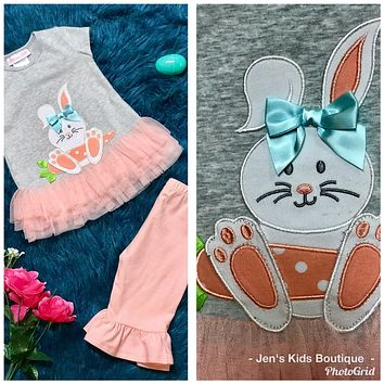 Spring Easter Happy Bunny Set