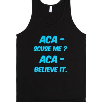Pitch perfect quotes.-Unisex Black Tank