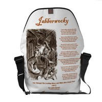 Jabberwocky (Lewis Carroll Through Looking Glass) Messenger Bags from Zazzle.com