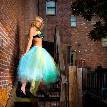 Adult tutu, long tutu, wedding tutu, wedding dress, prom dress, senior portraits, steampunk clothes