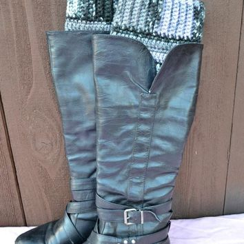 Black & Grey Boot Cuffs
