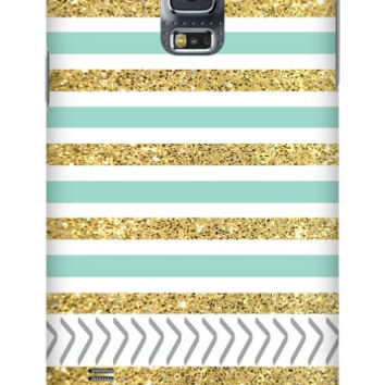 Gold and Tiffany Personalized Galaxy S5 Slim Case