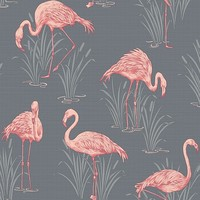 Lagoon by Arthouse - Grey/Coral : Wallpaper Direct