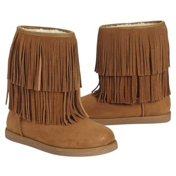 ALL OVER FRINGE COZY BOOTS | GIRLS BOOTS SHOES | SHOP JUSTICE